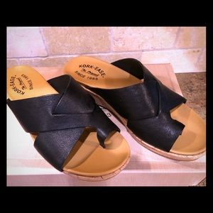 Black Kork- Ease Sandals , size 7 New in box!